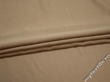 Костюмная бежевая ткань хлопок вискоза ВЕ644