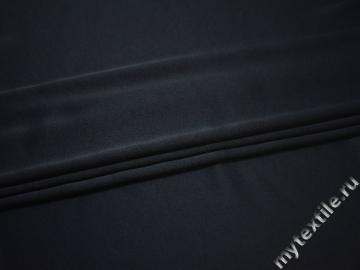 Плательный креп синий вискоза хлопок эластан ВД650
