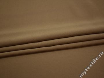 Костюмная бежевая ткань полиэстер эластан ВВ656