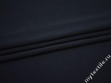 Костюмная синяя ткань шелк эластан ВД647