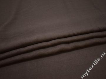 Костюмная коричневая ткань хлопок ВД596