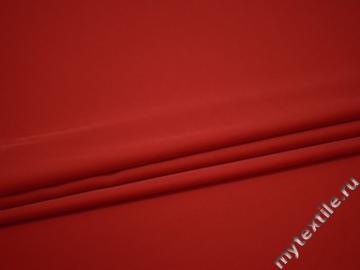 Костюмная красная ткань полиэстер ВЕ589