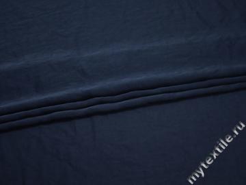 Плательная синяя ткань полиэстер БД7104