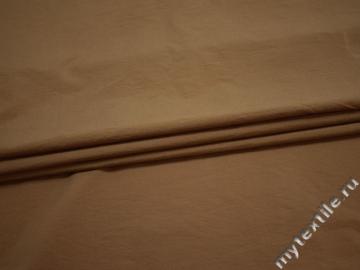 Плательная коричневая ткань хлопок БД792