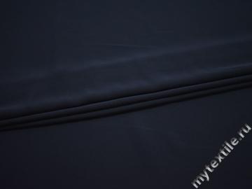 Костюмная синяя ткань полиэстер эластан БД793