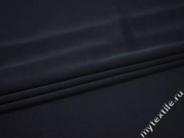 Плательный креп синий полиэстер эластан БД790