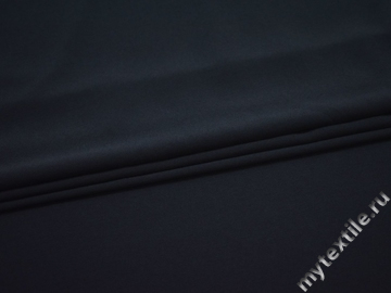 Плательный креп синий полиэстер эластан БД777