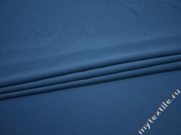 Плательный креп синий полиэстер эластан БД797