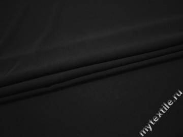 Плательная черная ткань полиэстер эластан БД771