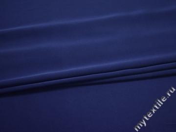 Плательная синяя ткань полиэстер БД780