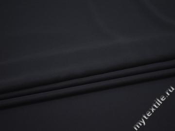 Плательная синяя ткань полиэстер БД764