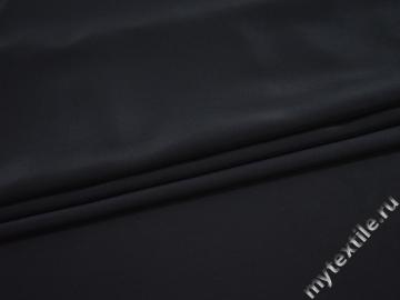 Плательная синяя ткань полиэстер БД788
