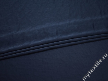 Плательная синяя ткань полиэстер БД787