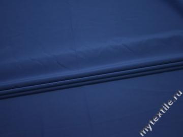 Плательная синяя ткань полиэстер БД776