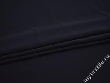 Плательная синяя ткань полиэстер БД759