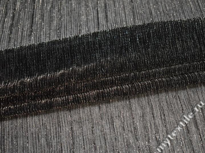 Сетка черная серебряная с люрексом ГВ452