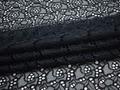 Сетка синяя с вышивкой узор полиэстер ГВ444