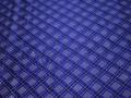 Китайский шёлк синий клетка полоска полиэстер ГВ436