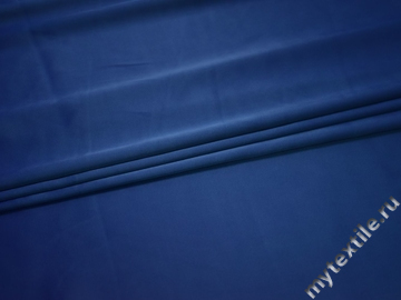 Атлас синий полиэстер ЕА3149