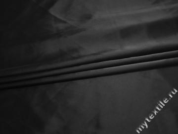 Атлас черный полиэстер ЕА3150