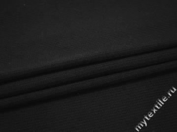 Трикотаж черный полиэстер эластан АБ656
