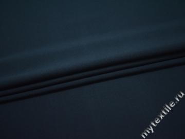 Костюмная синяя ткань хлопок эластан полиэстер АЛ45