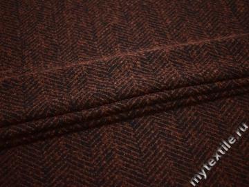 Пальтовая терракотовая бежевая ткань шерсть ГЖ237