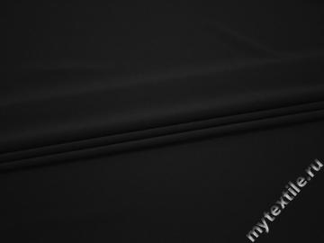 Плательная черная ткань вискоза эластан БД711
