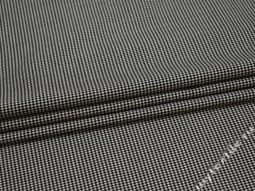 Рубашечная черная белая ткань хлопок полиэстер эластан ЕБ569