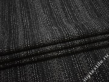 Пальтовая черная серая ткань шерсть полиэстер ГЁ638