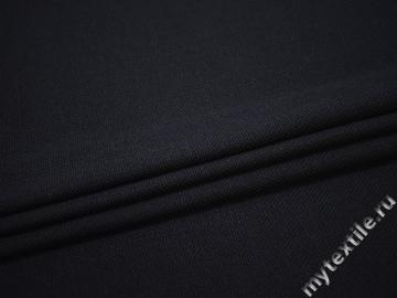 Пальтовая синяя ткань шерсть хлопок ГЖ366