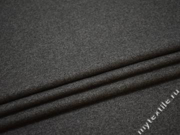 Костюмная серая ткань шерсть полиэстер ГГ459
