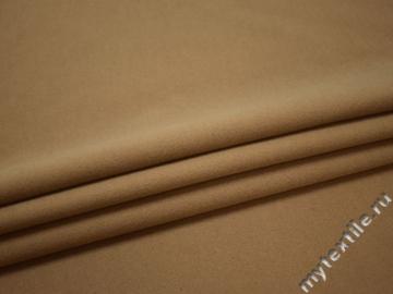 Пальтовая бежевая ткань полиэстер ГЖ539