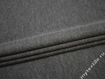 Пальтовая серая ткань шерсть полиэстер ГЖ542