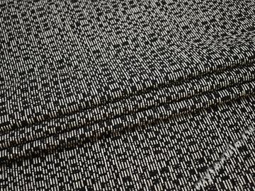 Костюмная черная молочная ткань полиэстер ГЁ563