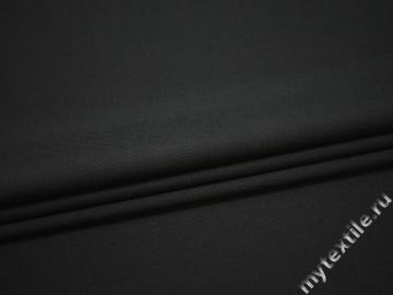 Костюмная темно-серая ткань шерсть полиэстер ГД178