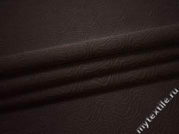 Жаккард коричневый вискоза полиэстер ВБ653