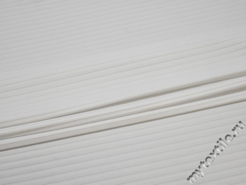 Трикотаж белый полиэстер АГ649