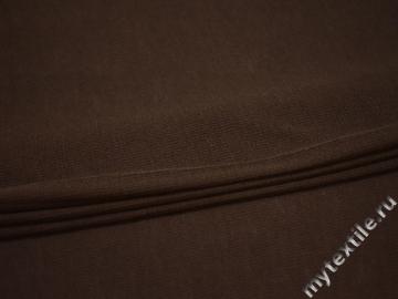 Трикотаж коричневый шерсть полиэстер АГ631
