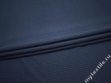 Трикотаж синий хлопок АГ632
