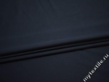 Костюмная синяя ткань вискоза эластан ДЁ488