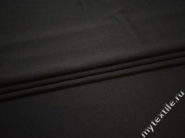 Костюмная черная ткань шерсть полиэстер лайкра ГЕ4124
