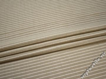 Костюмная серая белая ткань полоска вискоза полиэстер лен ГЕ4122