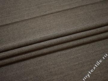 Костюмная коричневая ткань шерсть полиэстер ГЕ4127