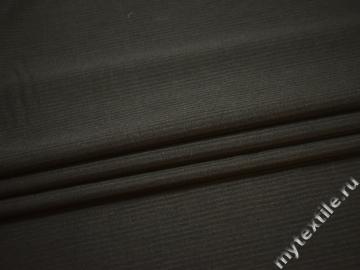 Костюмная коричневая ткань полоска шерсть полиэстер ГЕ4133