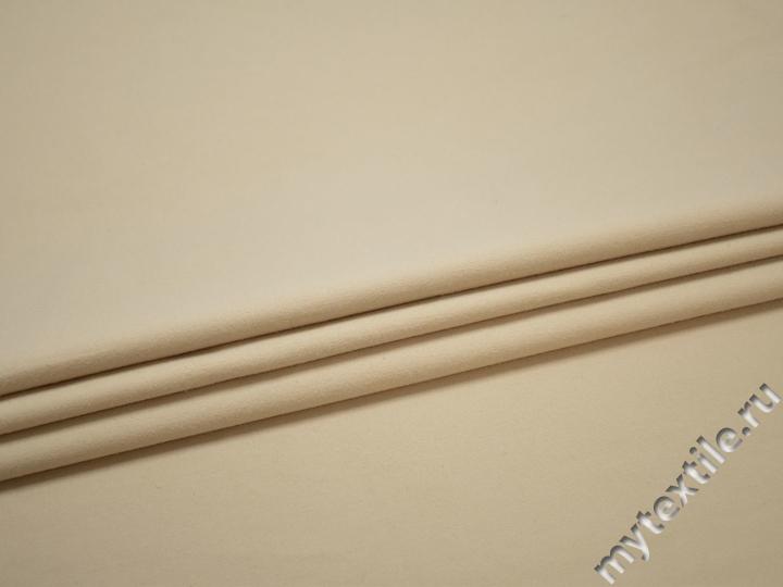 Костюмная бежевая ткань хлопок ВД268