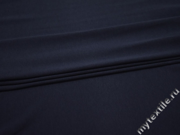 Трикотаж синего цвета хлопок АГ5114