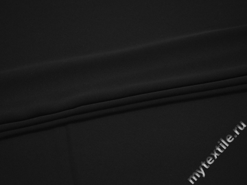 Плательная черная ткань полиэстер БД739