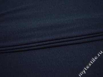 Трикотаж синего цвета хлопок АВ599