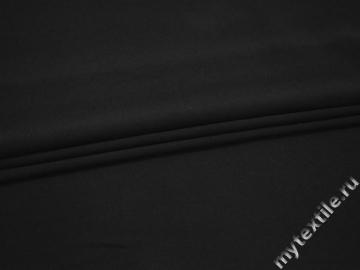 Трикотаж черного цвета полиэстер АВ654